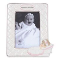 "Precious Moments® ""Baptized in His Name"" 4-Inch x 6-Inch Girl Picture Frame"