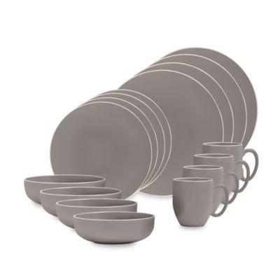 Vera Wang Wedgwood® Vera Colors 16-Piece Dinnerware Set in Grey  sc 1 st  Bed Bath u0026 Beyond & Buy Gray Dinnerware from Bed Bath u0026 Beyond