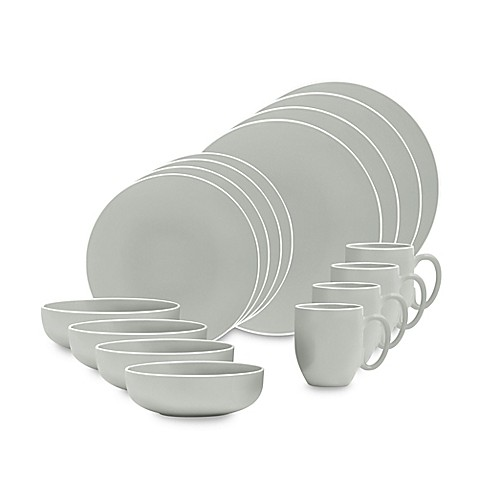 Vera Wang Wedgwood® Vera Colors 16-Piece Dinnerware Set in Teal - Bed Bath u0026 Beyond  sc 1 st  Bed Bath u0026 Beyond & Vera Wang Wedgwood® Vera Colors 16-Piece Dinnerware Set in Teal ...