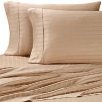 Pure Beech Modal® Dobby Stripe King Sheet Set in Sand