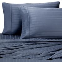 Pure Beech Modal® Dobby Stripe King Pillowcases in Blue (Set of 2)