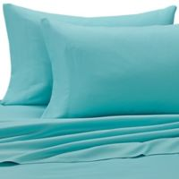 Benzoyl Peroxide-Resistant Microfiber King Pillowcases in Teal (Set of 2)
