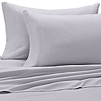 Benzoyl Peroxide-Resistant Microfiber Queen Sheet Set in Light Grey