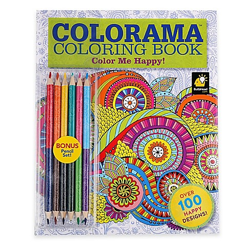 ColoramaTM Color Me Happy Coloring Book With Colored Pencils