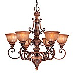 Minka Lavery® Illuminati Lights in Bronze with Patina Glass Shade