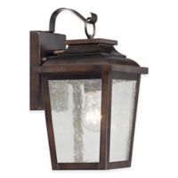 Minka Lavery® Irvington Manor1-Light Wall-Mount Outdoor Lantern in Chelsea Bronze