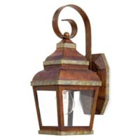 Minka Lavery® Mossoro™ 1-Light Wall-Mount Outdoor Light in Walnut