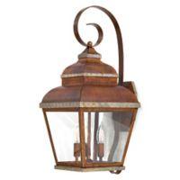 Minka Lavery® Mossoro™ 3-Light Wall-Mount Outdoor Light in Walnut