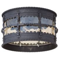 Minka Lavery® Mallorca™ Flush-Mount Outdoor 3-Light Lantern in Iron