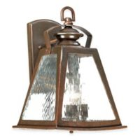 Minka Lavery® Oxford Road 4-Light Wall-Mount Outdoor Lantern in Bronze with Glass Shade