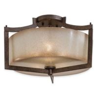 Minka Lavery® Clarte 3-Light Semi-Flush Mount Fixture in Patina Iron