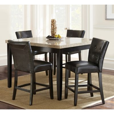 Steve Silver Co. Monarch 5 Piece Counter Height Dining Set In Dark Cherry