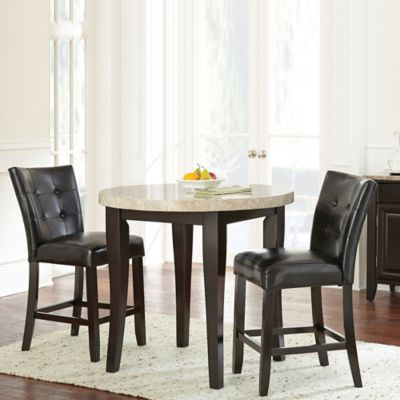 Steve Silver Co. Monarch 3 Piece Counter Height Dining Set In Dark Cherry