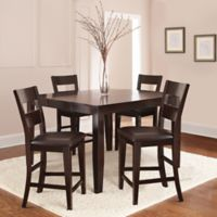 Steve Silver Co. Victoria 5-Piece Counter Height Dining Set in Dark Espresso