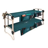 Large Cam-O-Bunk™ by Disc-O-Bed with Side Organizers in Green/Tan