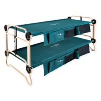 XL Cam-O-Bunk™ by Disc-O-Bed with Side Organizers in Green/Tan