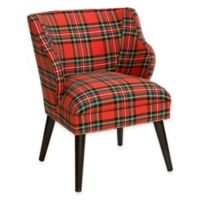Skyline Furniture Wesley Chair in Ancient Stewart Red