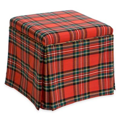 Skyline Furniture Nottingham Storage Ottoman In Ancient Stewart Red