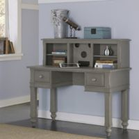 NE Kids Lake House Writing Desk and Entertainment Hutch Set in Stone