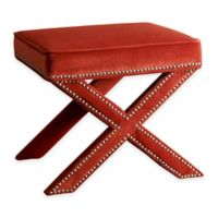 Abbyson Living® Arc Nailhead Trim Ottoman Bench in Sangria