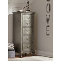NE Kids Kensington 5-Drawer Tall Chest in Antique Sliver