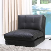 Abbyson Living® Finley Single Sleeper Chair in Black