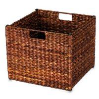 Household Essentials® Banana Leaf Wicker Collapsible Storage Bin in Brown