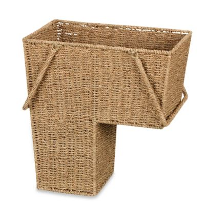 Household Essentials  Seagrass Stair Basket with Handles in Natural. Buy Woven Baskets from Bed Bath   Beyond