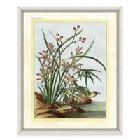 Flowers and Bird Framed Giclée Print Wall Art I