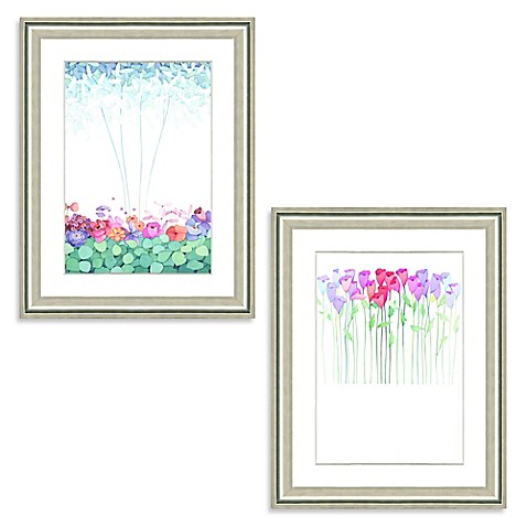 image of Watercolor Bouquet Framed Giclée Print Wall Art