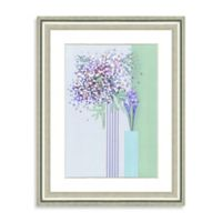 Watercolor Botanical Scene Framed Giclée Print Wall Art I