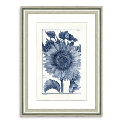 Blue botanicals iii framed wall art