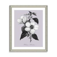 Purple and White Botanical I Framed Wall Art