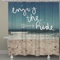 Laural HomeR Enjoy The Ride Shower Curtain
