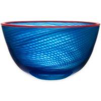 Kosta Boda 11.5-Inch Red Rim Bowl