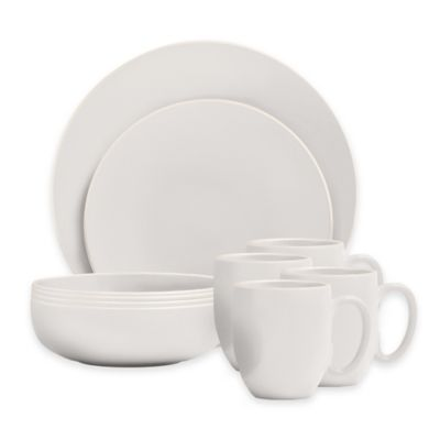 Vera Wang Wedgwood® Vera Colors 16-Piece Dinnerware Set in White  sc 1 st  Bed Bath u0026 Beyond & Buy White Stoneware Dinnerware Set from Bed Bath u0026 Beyond