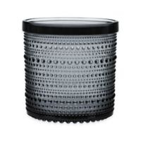 Iittala Kastehelmi Large Jar With Lid in Grey
