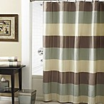 Croscill® Fairfax 72-Inch x 84-Inch Shower Curtain in Taupe