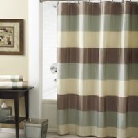 Croscill® Fairfax 54-Inch x 78-Inch Shower Curtain in Taupe