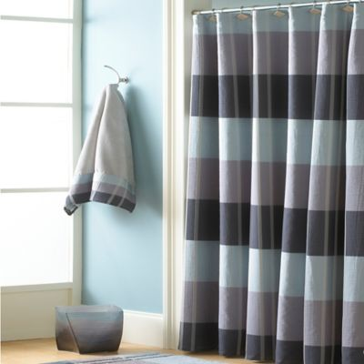 CroscillR Fairfax 72 Inch X Shower Curtain In Slate