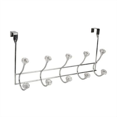 Incroyable Home Basics® Steel Over The Door 5 Hook Hanger In Chrome And