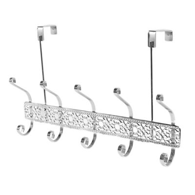 Home Basics® Over The Door 5 Hook Flat Wire Hanger In Chrome