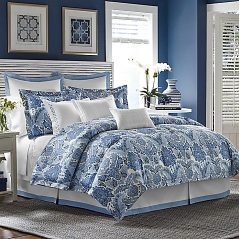Tommy Bahama 174 Porcelain Paradise Comforter Set In Blue