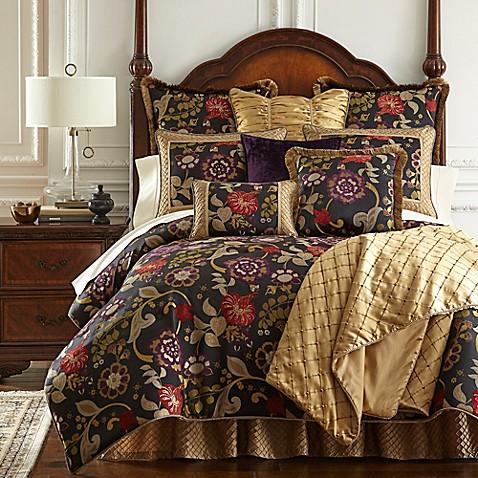 Austin Horn Classics Escapade Reversible Comforter Set In Black Bed Bath Amp Beyond