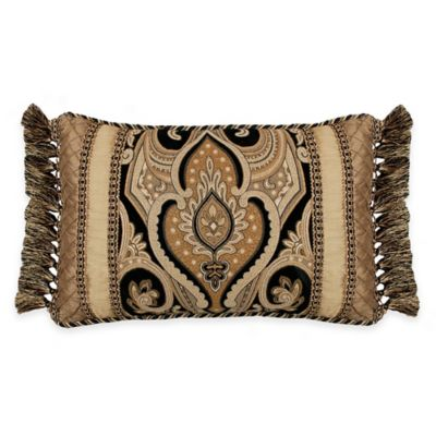 Austin Horn Classics Alexandria Boudoir Throw Pillow In Black/Gold