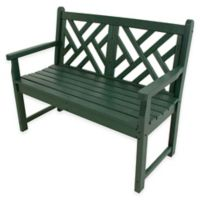 POLYWOOD® Chippendale Bench in Green