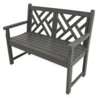 POLYWOOD® Chippendale Bench in Slate Grey