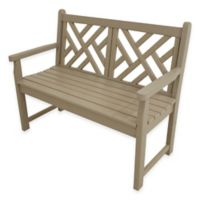 POLYWOOD® Chippendale Bench in Sand