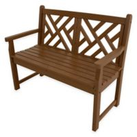POLYWOOD® Chippendale Bench in Teak