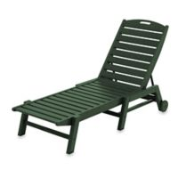 POLYWOOD® Nautical Stackable Wheeled Chaise in Green